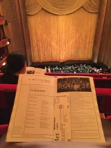 View from balcony seat at Turandot, The Met