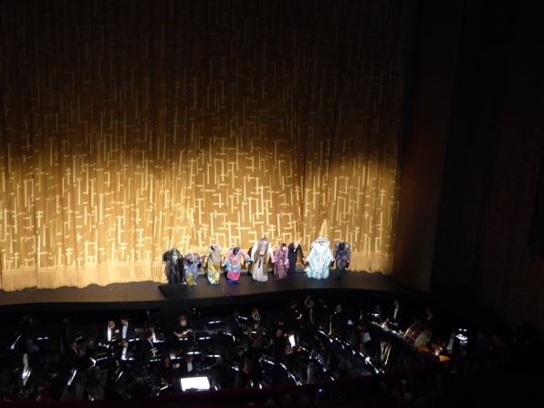 Turandot cast at curtain call