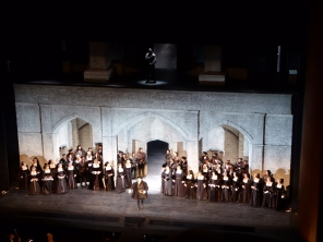 Cast at the curtain call, Anna Bolena, The Met