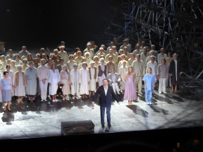 Joseph Calleja and Mefistofele cast at curtain call