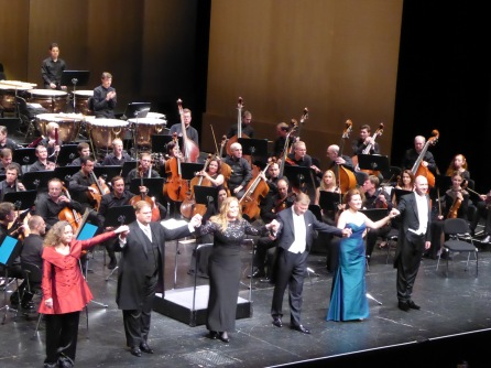 The cast of Die Walkurie, Baden Baden, July 7th, 2016